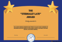 20 Hilarious Office Awards To Embarrass Your Colleagues with regard to Free Funny Award Certificate Templates For Word