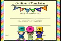 20 Kindergarten Certificates Of Completion pertaining to Free Kindergarten Completion Certificate Templates