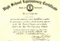 20 Printable Fake Ged Certificate For Free  Pitsketchfest for Free Ged Certificate Template Download