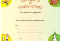 20 Science Fair Certificate Template ™  Dannybarrantes regarding Science Achievement Certificate Templates