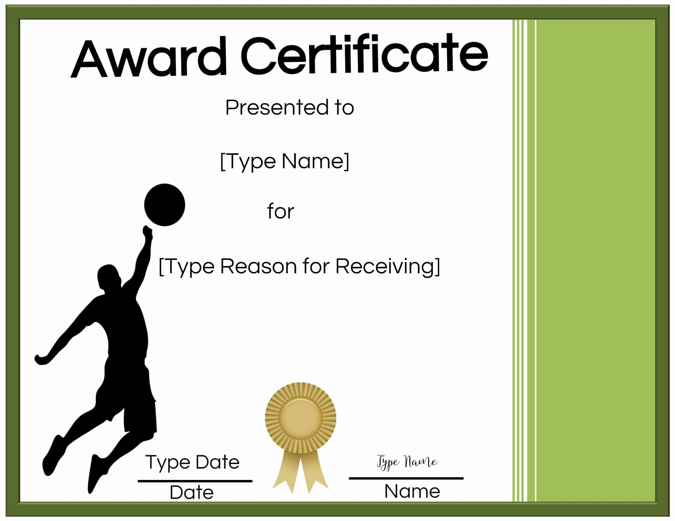 20 Volleyball Certificate Template Free ™  Dannybarrantes throughout Amazing Volleyball Award Certificate Template Free