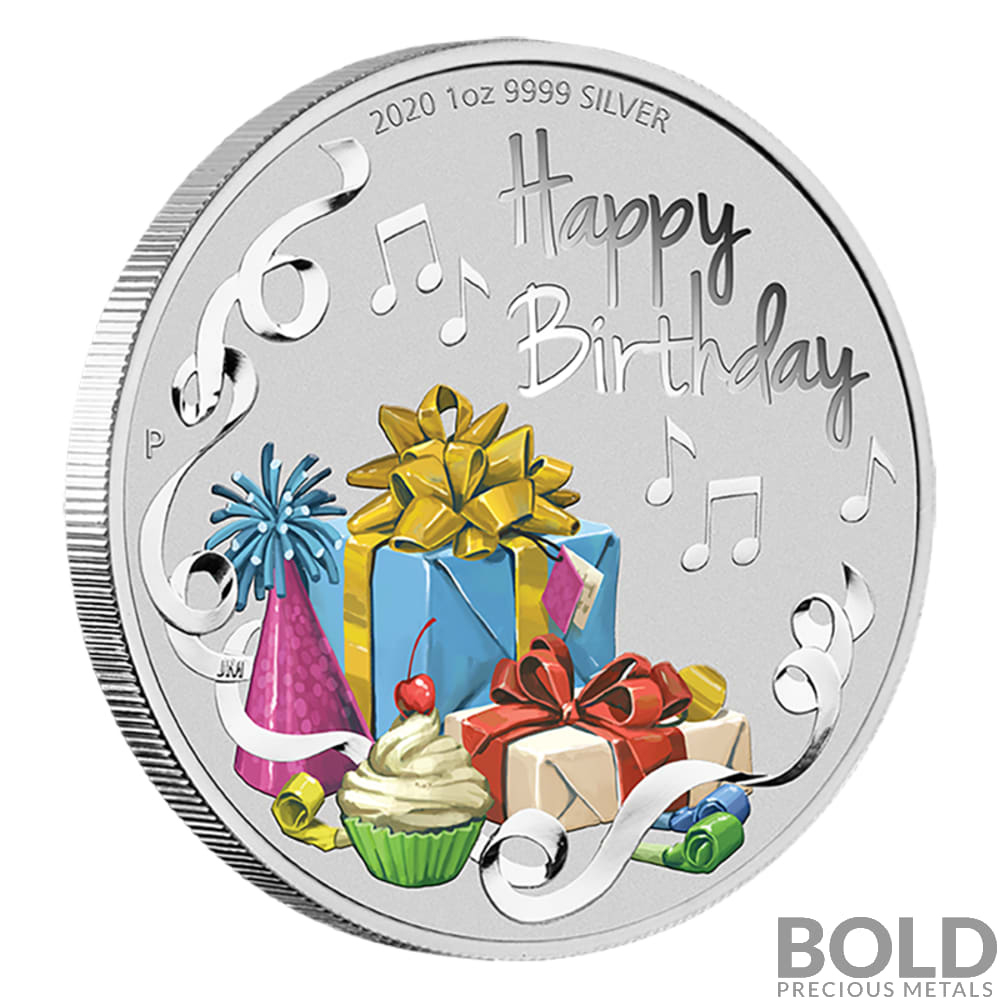 2020 Australia Happy Birthday 1 Oz Silver Proof In Card with regard to Happy Birthday Gift Certificate