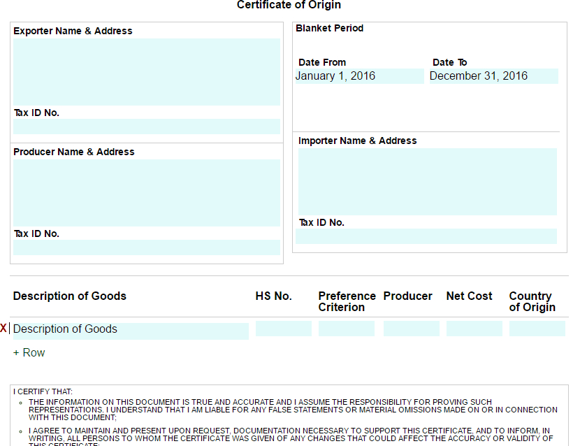 21 Free 41 Free Certificate Of Origin Templates  Word throughout Amazing Certificate Of Origin Template