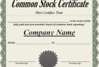 21 Stock Certificate Templates  Word Psd Ai Publisher inside Template For Share Certificate