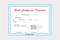 22 Birth Certificate Templates  Editable  Printable Designs with regard to Editable Birth Certificate Template