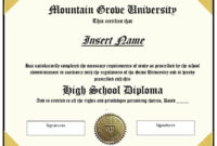 22 Free School Degree Certificate Templates  Word inside Free Printable Graduation Certificate Templates