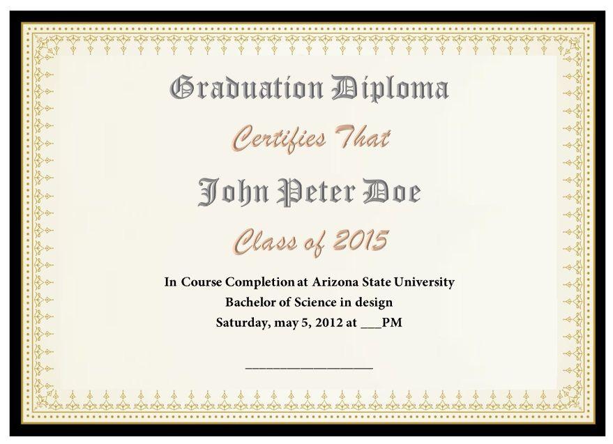 22 Free School Degree Certificate Templates  Word intended for Printable Free School Certificate Templates