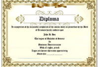 22 Free School Degree Certificate Templates  Word with regard to Awesome School Certificate Templates Free