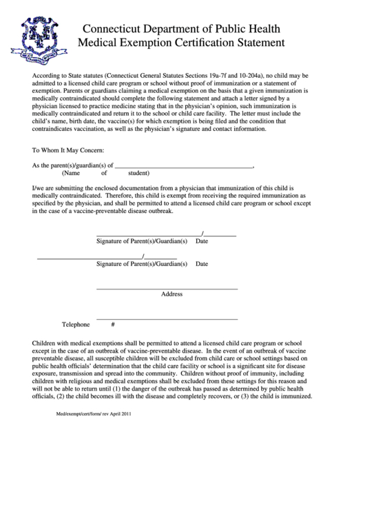 22 Vaccine Exemption Form Templates Free To Download In Pdf with regard to Certificate Of Vaccination Template