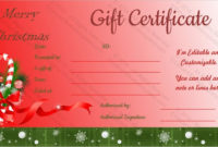 23 Holiday Gift Certificate Templates  Psd Word Ai inside Merry Christmas Gift Certificate Templates