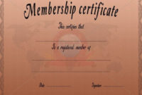 23 Membership Certificate Templates  Word Psd In throughout Life Membership Certificate Templates