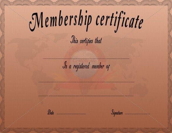23 Membership Certificate Templates  Word Psd In throughout Life Membership Certificate Templates
