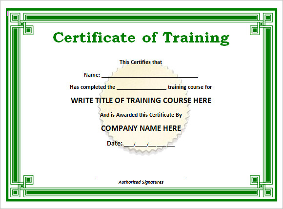 23 Training Certificate Templates  Free Samples pertaining to Free Physical Fitness Certificate Template 7 Ideas