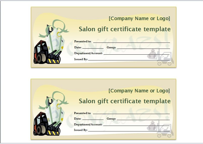 24 Free Salon Gift Certificate Templates  Templates Bash inside Salon Gift Certificate Template