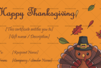 24 Thanksgiving Gift Certificate Templates  Customizable in Thanksgiving Gift Certificate Template Free