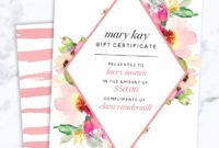 25 Best Sales Ideas Images On Pinterest  Mary Kay regarding Best Birthday Gift Certificate Template Free 7 Ideas