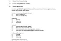 25 Printable Staff Meeting Agenda Template Forms regarding Board Of Directors Meeting Agenda Template