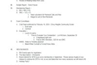 26 Printable Board Meeting Agenda Template Word Forms with Free School Board Meeting Agenda Template