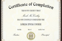 26 Sample Certificate Of Completion Templates  Sample throughout Certification Of Completion Template