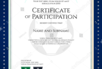 28 Certificate Of Participation Designs  Templates  Psd inside Athletic Certificate Template