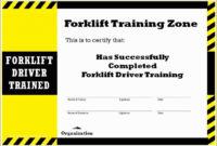 29 Forklift Certification Wallet Card Template Free intended for Forklift Certification Card Template
