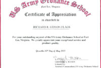 3 Army Training Certificate Templates 10926  Fabtemplatez with Army Good Conduct Medal Certificate Template