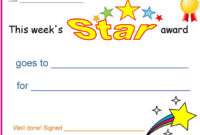 3 Certificates For Kids Free Download throughout Star Award Certificate Template