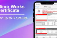 3 Circuit Minor Works Electrical Certificate  Icertifi for Printable Electrical Minor Works Certificate Template