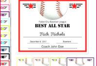 3 Mvp Softball Certificate Template 04654  Fabtemplatez for Softball Award Certificate Template