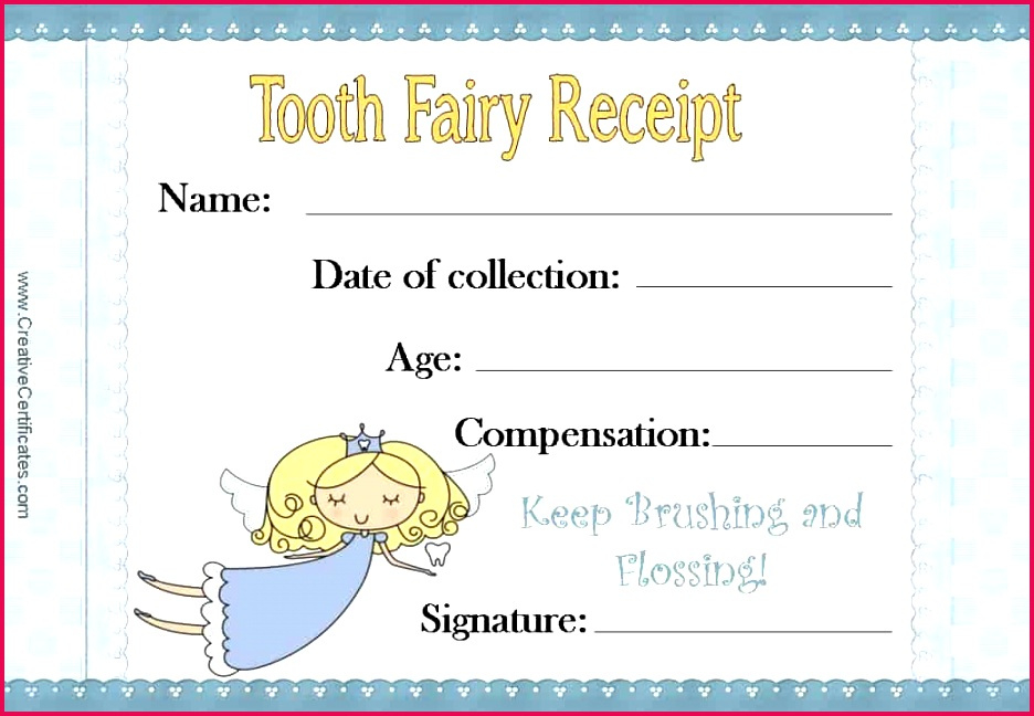 3 Printable Tooth Fairy Certificate Template 34778 pertaining to Printable Tooth Fairy Certificate Template Free
