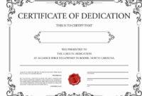 30 Baby Dedication Certificate Template Printable In 2020 for Baby Dedication Certificate Templates