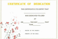 30 Baby Dedication Certificate Template Printable In 2020 in Amazing Accelerated Reader Certificate Template Free