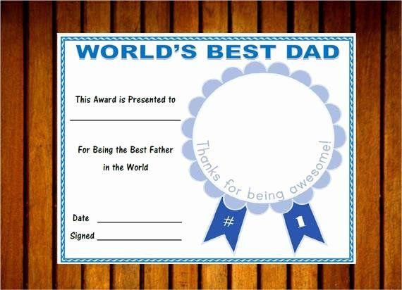 30 Best Dad Certificate Free Printable In 2020  Best Dad pertaining to Best Dad Certificate Template