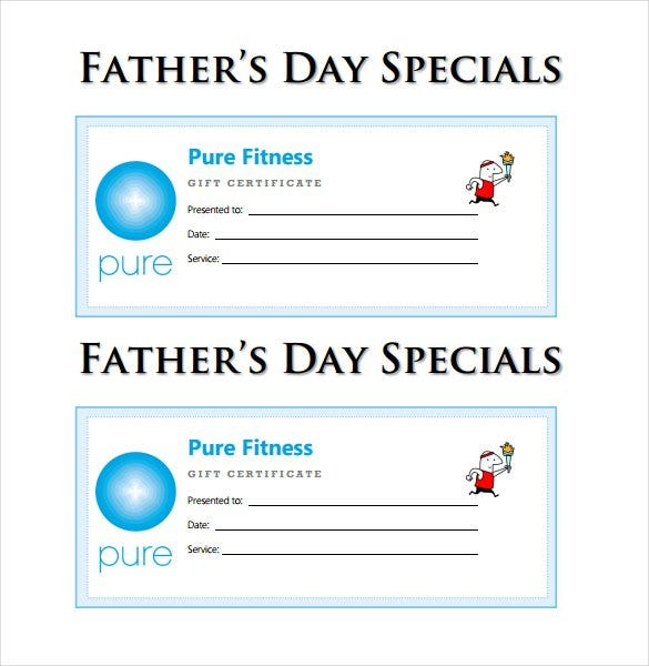 30 Blank Gift Certificate Templates  Doc Pdf  Free throughout Best Dad Certificate Template