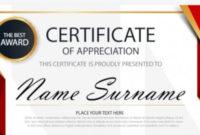 30 Certificate Of Appreciation Templates  Word Pdf Psd regarding Well Done Certificate Template