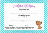 30 Dog Birth Certificates Printable In 2020  Puppy in Unicorn Adoption Certificate Templates