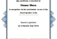 30 Free Certificate Of Appreciation Templates And Letters throughout Sample Certificate Of Recognition Template