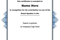 30 Free Certificate Of Appreciation Templates And Letters with regard to Quality Certificate Of Appreciation Template Free Printable