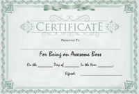 30 Free Printable Certificate Templates To Download intended for Awesome Outstanding Performance Certificate Template