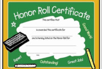 30 Free Printable Honor Roll Certificates In 2020  School for Printable Honor Roll Certificate Template