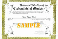 30 Free Printable Ordination Certificate In 2020  Free for Certificate Of Ordination Template