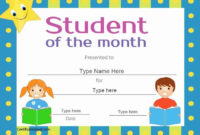 30 Free Printable Student Of The Month Certificate within Quality Star Student Certificate Template