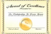 30 Good Samaritan Award Certificates  Pryncepality in Best Blank Award Certificate Templates Word