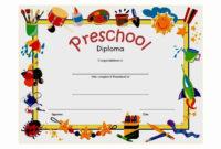 30 Kindergarten Graduation Certificate Free Printable In for Quality Kindergarten Graduation Certificates To Print Free