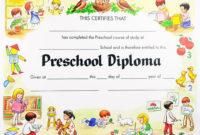 30 Kindergarten Graduation Certificate Free Printable In inside Daycare Diploma Template Free