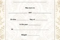 30 Printable Fake Birth Certificates  Template Library with Free Birth Certificate Fake Template