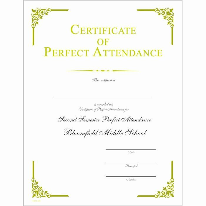 30 Printable Perfect Attendance Certificate In 2020 in Amazing Honor Roll Certificate Template Free 7 Ideas