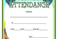 30 Printable Perfect Attendance Certificate  Template Library intended for Perfect Attendance Certificate Template Free
