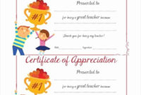 30 Teacher Appreciation Awards Printable In 2020 regarding Awesome Teacher Appreciation Certificate Templates