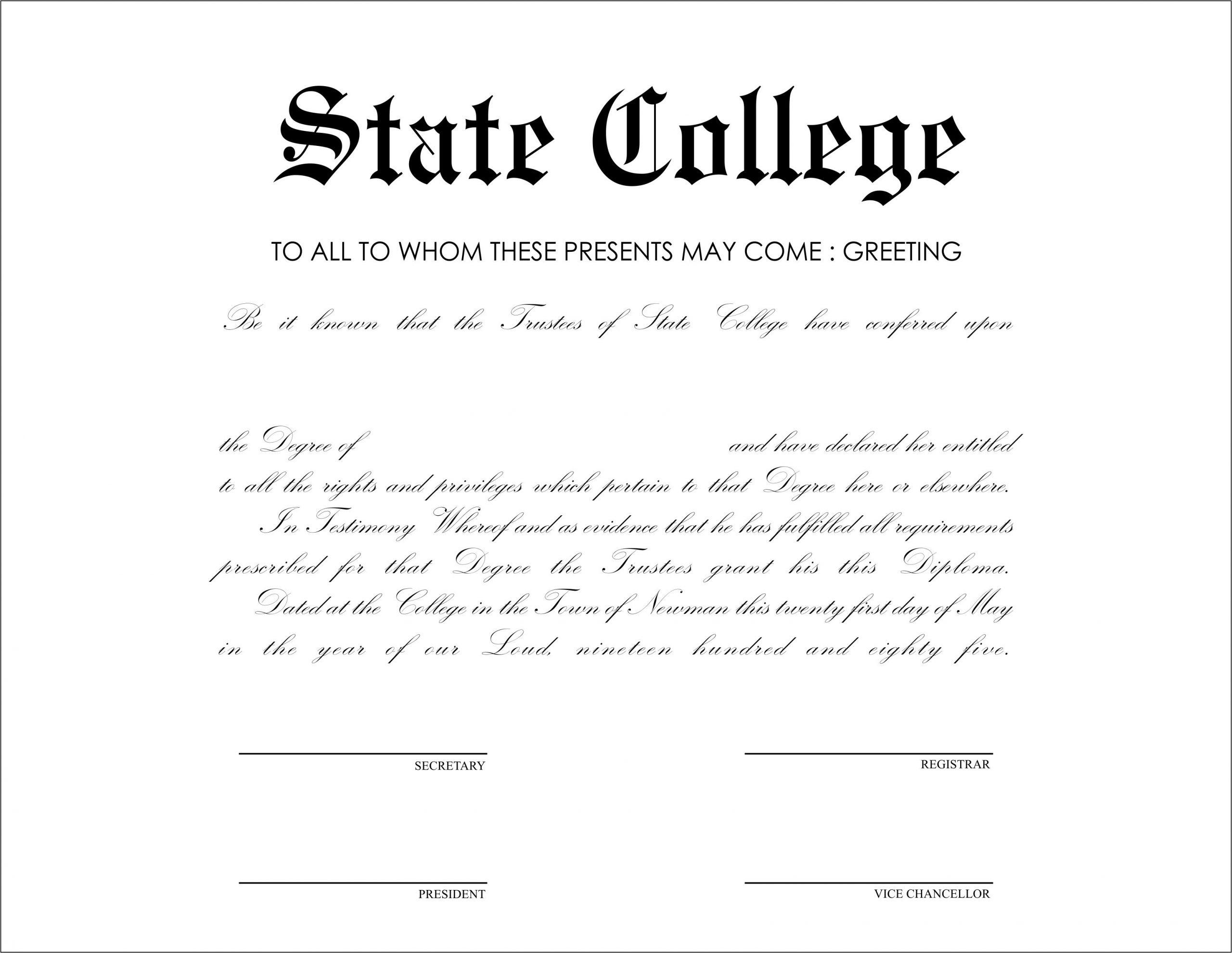 33 College Diploma Templates  Nurul Amal for College Graduation Certificate Template